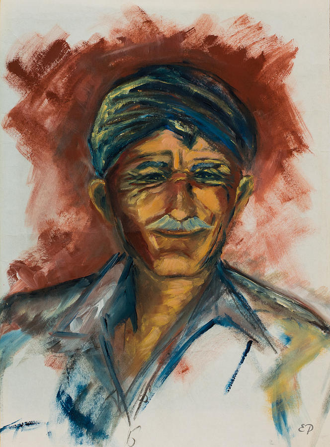 Man Painting - The Old Greek Man by Elise Palmigiani