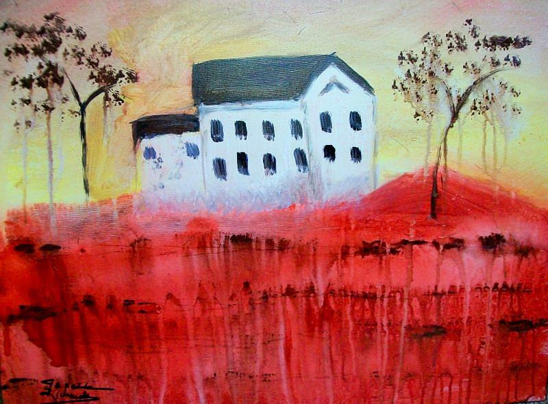 Landscape Painting - The Old Homeplace by Jenell Richards