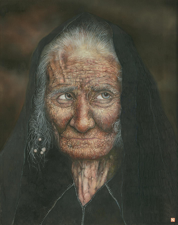 Lighthouse Painting - The Old Lady by Connor Maguire