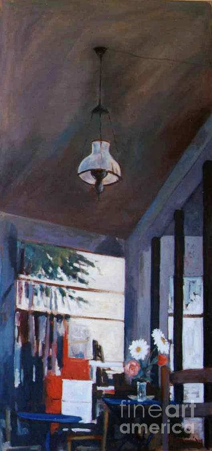 Interiors Painting - The Old Lamp by George Siaba