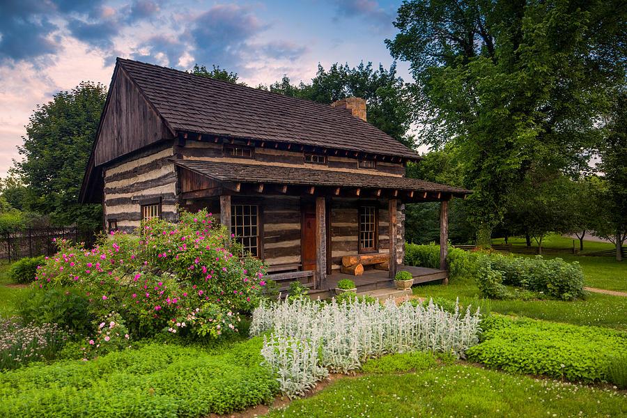 Beaver Photograph - The Old Log Home  by Emmanuel Panagiotakis