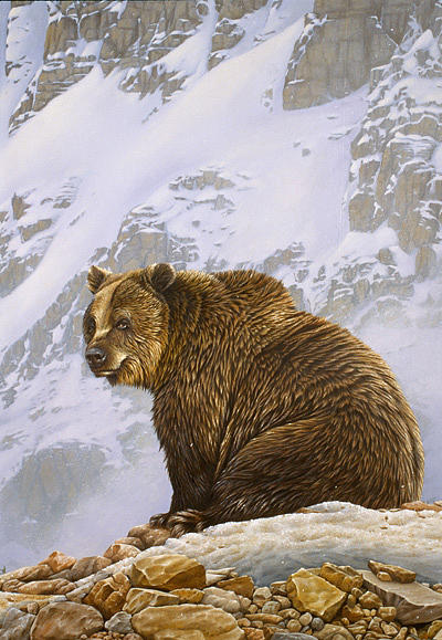 Grizzly Bear Painting - The Old Man Of The Mountain by Eric Wilson