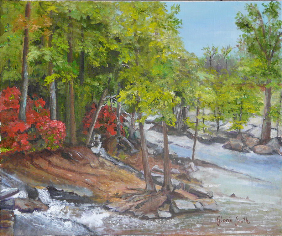 Landscape Painting - The Old Mill by Gloria Smith