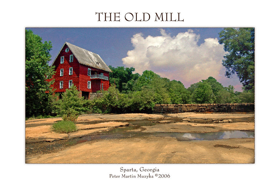 Landscape Photograph - The Old Mill by Peter Muzyka