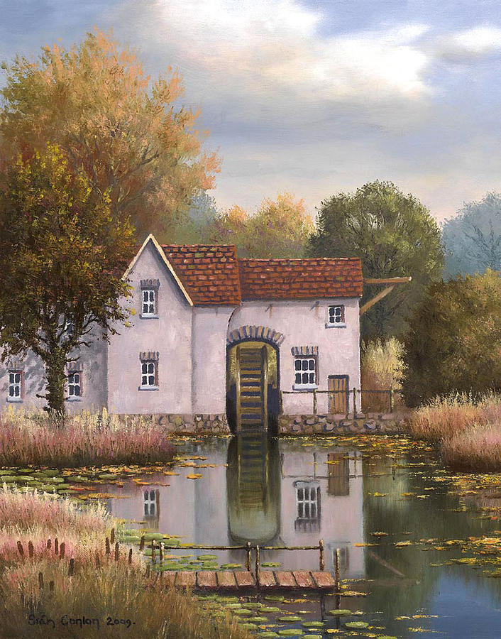 Landscape Painting - The Old Mill by Sean Conlon