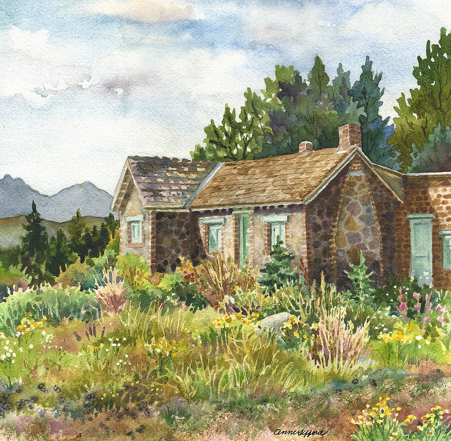 The Old Moore House At Caribou Ranch Painting By Anne Gifford