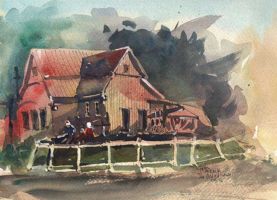 Architecture Painting - The Old Old House by Gaston McKenzie