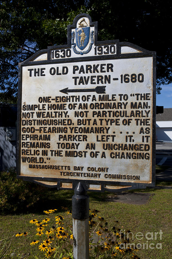The Old Parker Tavern - 1680 Photograph