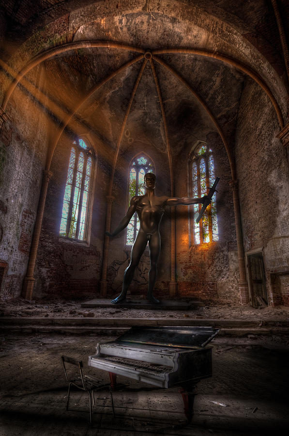 Urbex Digital Art - The Old Party Tune. by Nathan Wright