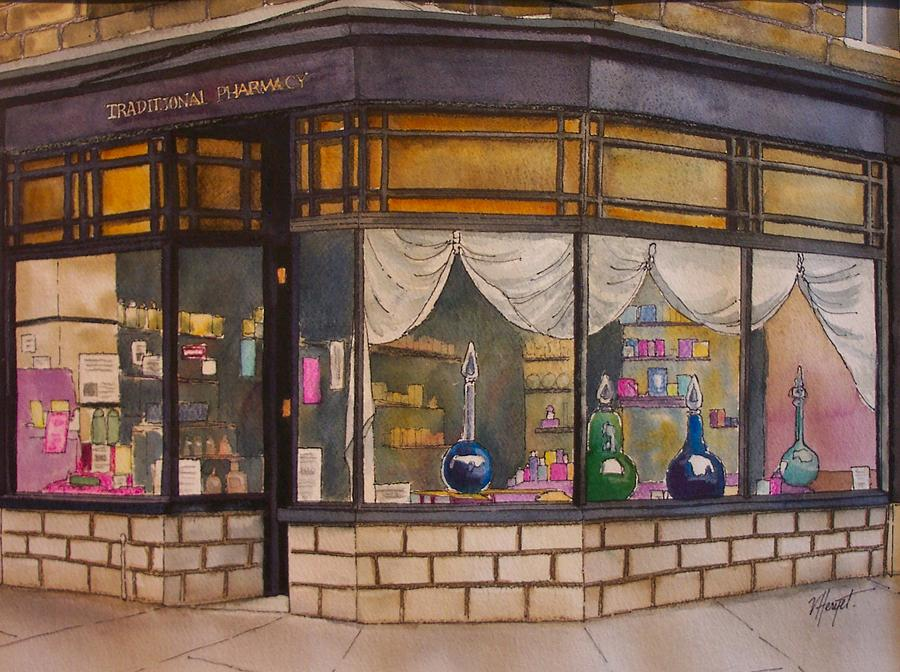 Yorkshire Painting - The Old Pharmacy by Victoria Heryet