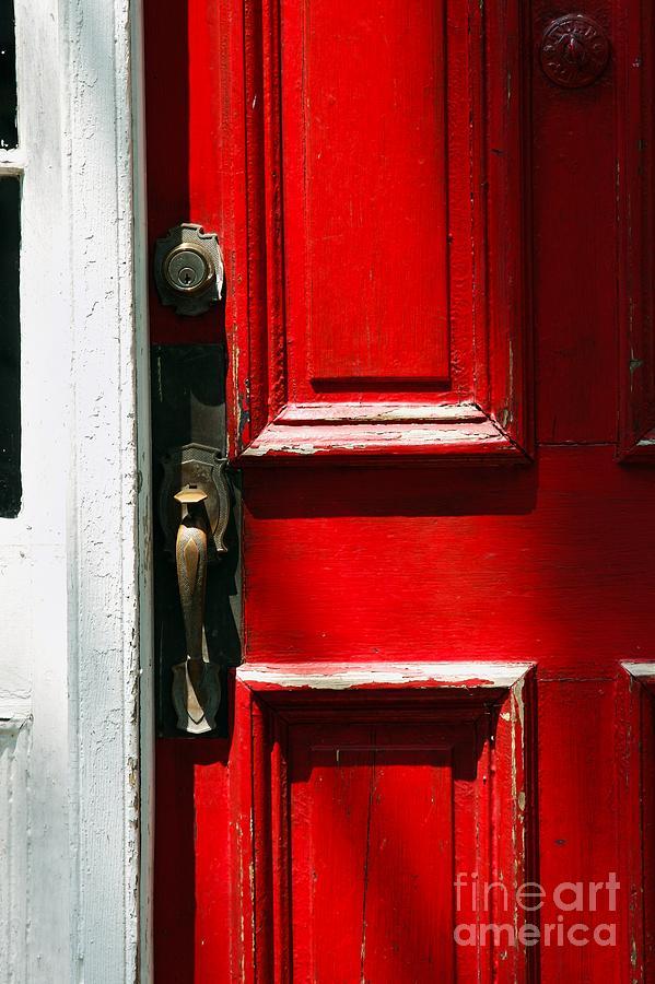 Door Photograph - The Old Red Door by Hideaki Sakurai