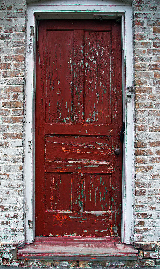 Door County Photograph   The Old Red Door By Joanne Coyle