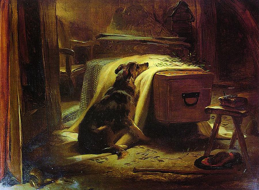 Pet Painting - The Old Shepherd by Sir Edwin Henry Landseer