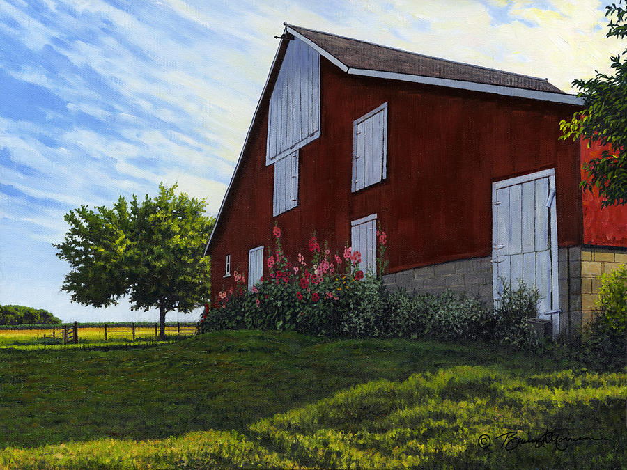 The Old Stucco barn by Bruce Morrison