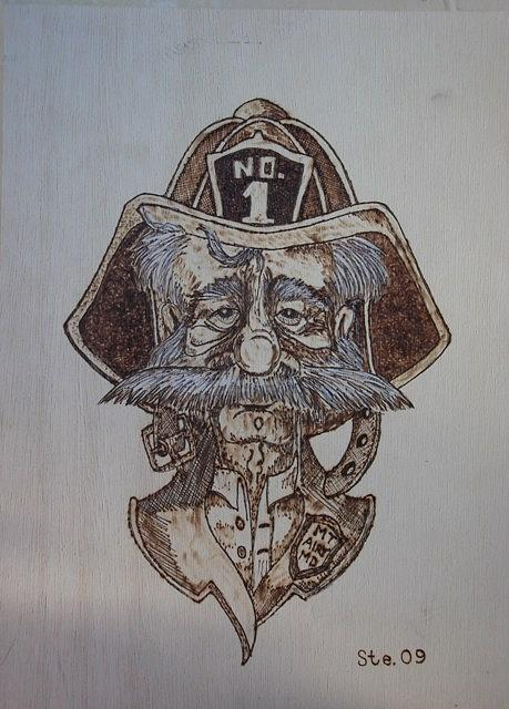 Landscape Pyrography - The Old Timer by Steven Steven