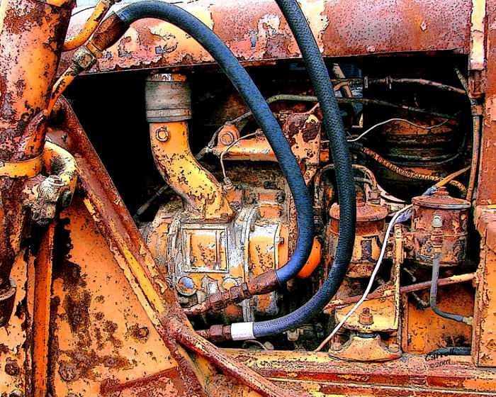 Digital Photograph - The Old Tractor  by Linda Carroll