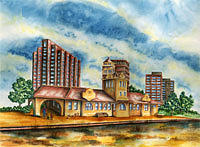 Cityscape Painting - The Old Train Station   by Ragon Steele