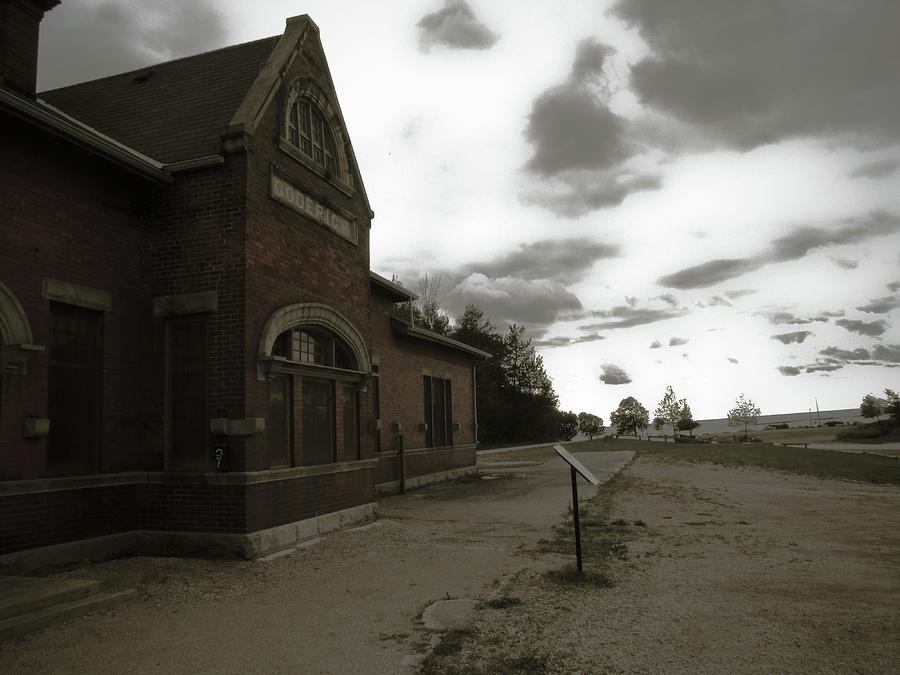 Train Station Photograph - The Old Train Station by Peter May