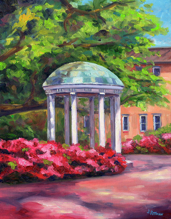 The Old Well Unc Painting by Jeff Pittman