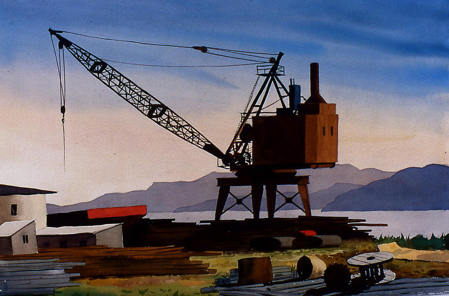 Crane Painting - The Oldcrane by Faye Ziegler
