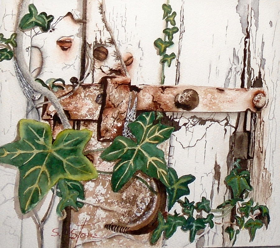 Iron Latch Painting - The Olde Garden Gate by Sandra Stone