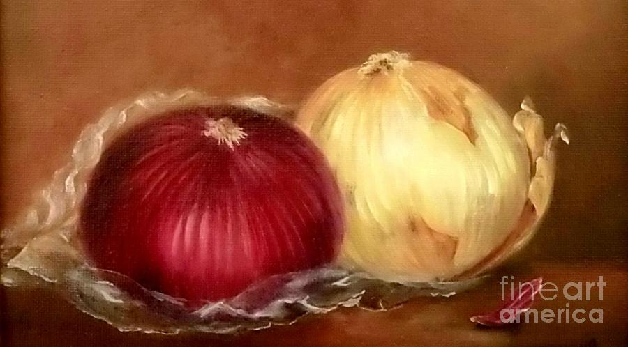Still Life Painting - The Onions by Patricia Lang