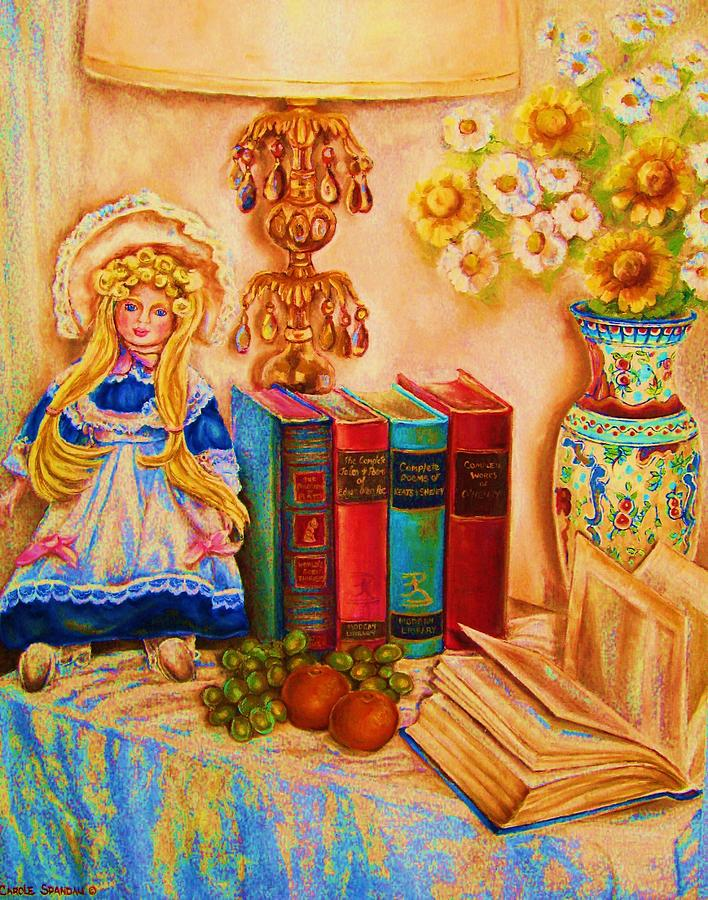 The Bible Painting - The Open Book by Carole Spandau
