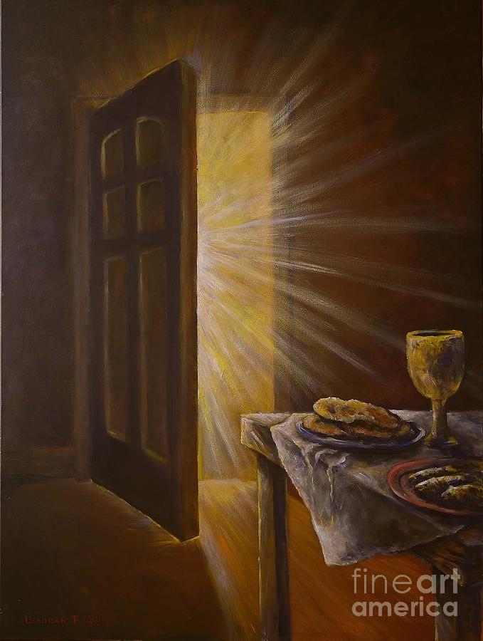 open door painting. Food On A Table Painting - The Open Door By Deborah Smith Fine Art America
