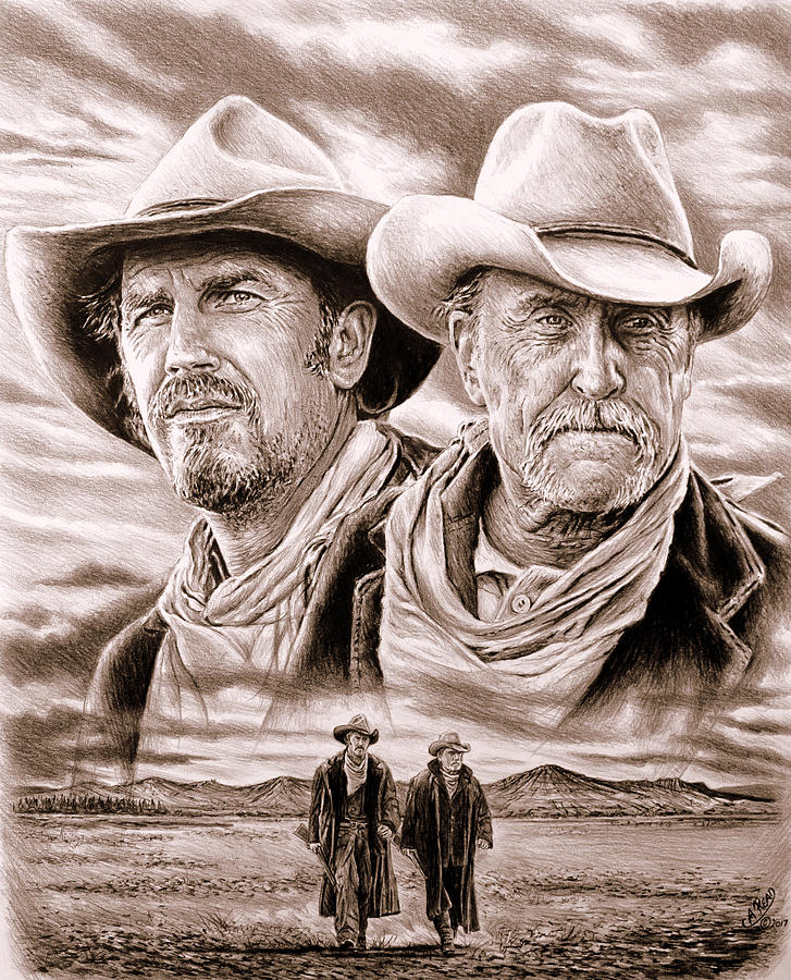 The Open Range Sepia Drawing By Andrew Read