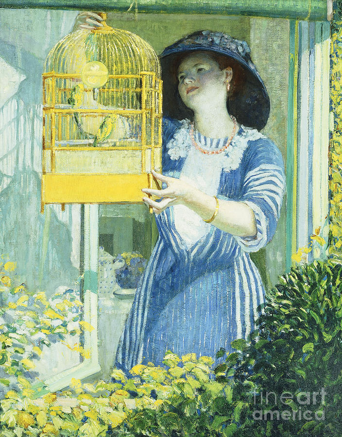 Frederick Carl Frieseke Painting - The Open Window by Frederick Carl Frieseke