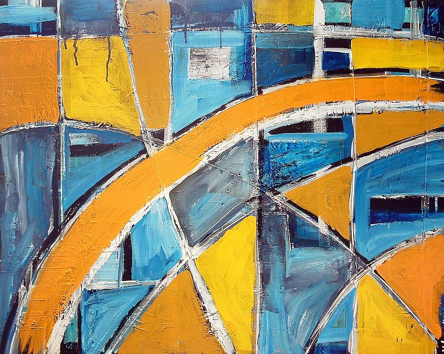 Abstract Painting - The Open Window by Kathy Augustine