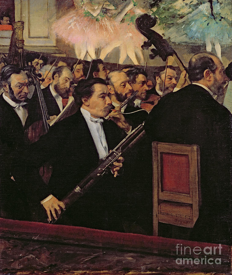 The Opera Orchestra Painting - The Opera Orchestra by Edgar Degas