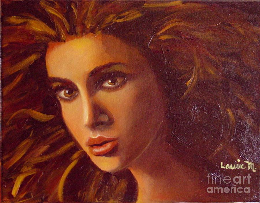 Portrait Painting - The Oracle by Laurie Morgan