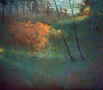 Forests Painting - The Orange Bush by Brian Higgins