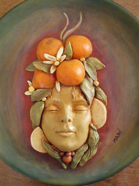 Sculpture Sculpture - The Orange Girl by Mari Sanches
