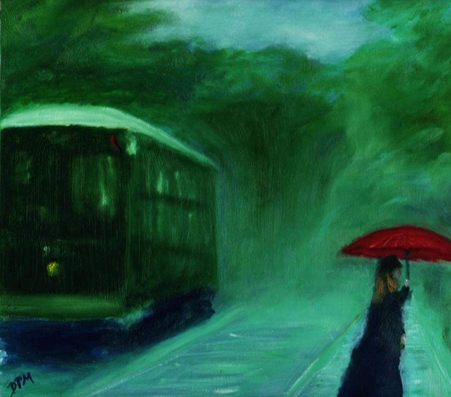 Umbrella Painting - The Orange Umbrella 1888 by David McGhee