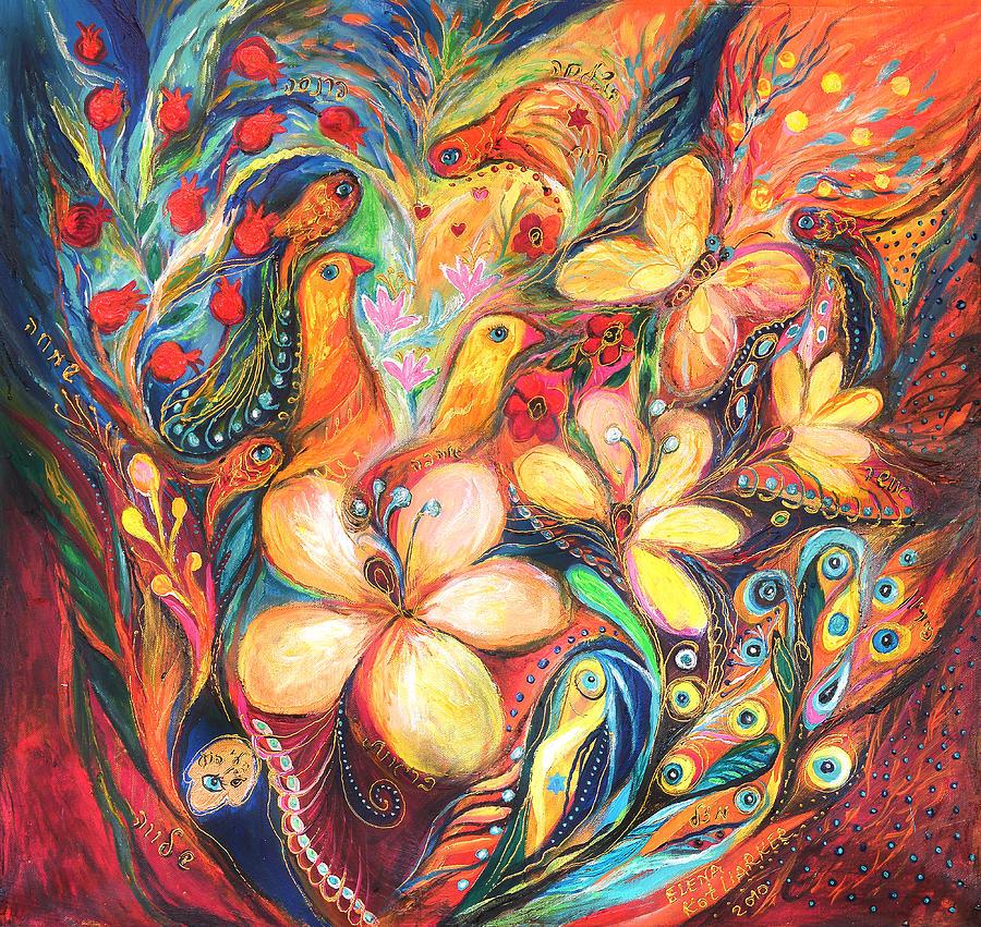 Original Painting - The Orange Wind by Elena Kotliarker