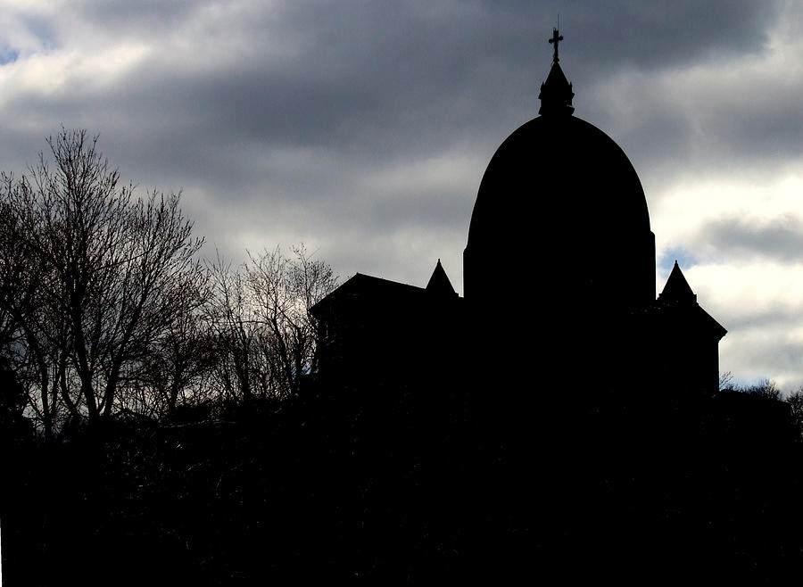 Architectonics Photograph - The Oratory - Silhouette by Robert Knight