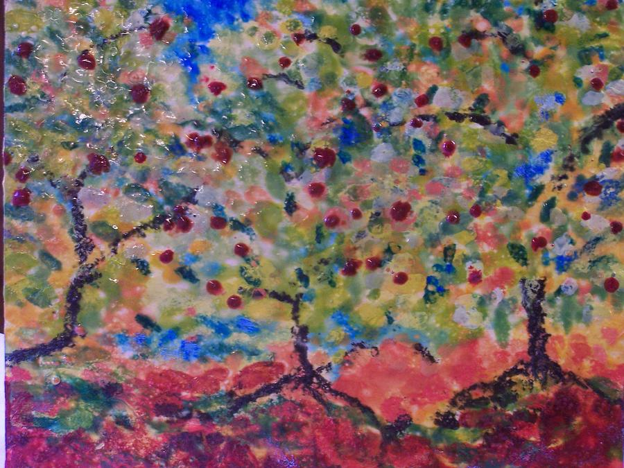Landscape Painting - The Orchard by Karla Phlypo-Price