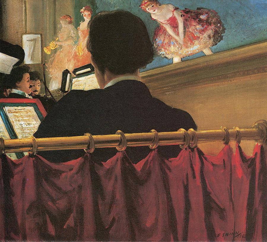 Everett Shinn Painting - The Orchestra Pit by Everett Shinn
