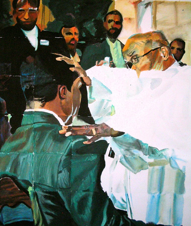 Watercolor Painting - The Ordination by MDanette Smith