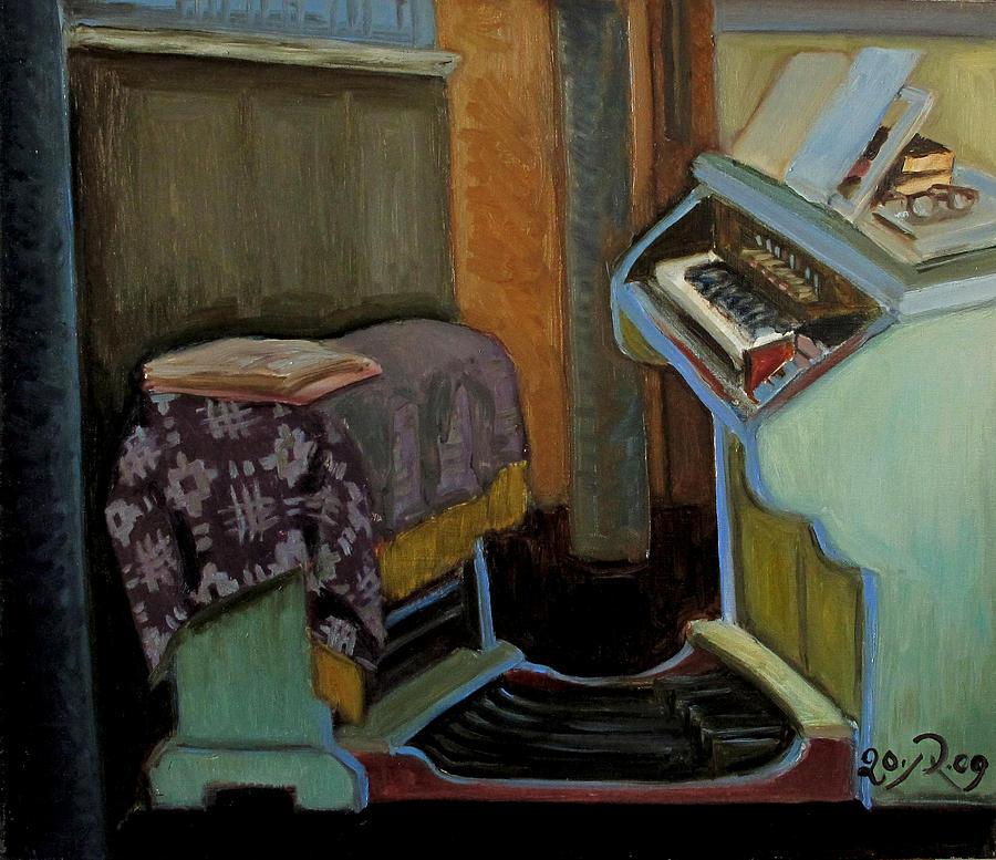 Interior Painting - The Organ in The Inturke Church by Raimonda Jatkeviciute-Kasparaviciene