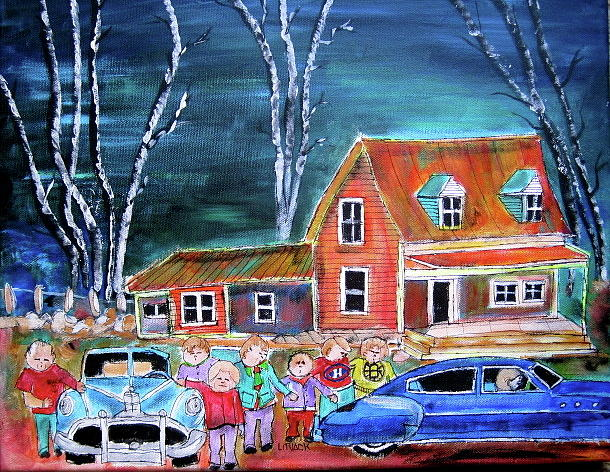 Hockey Painting - The Original 6 by Michael Litvack