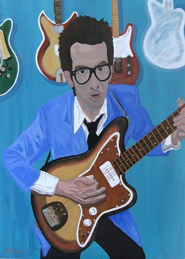 Music Painting - The Original Elvis by Bill Manson