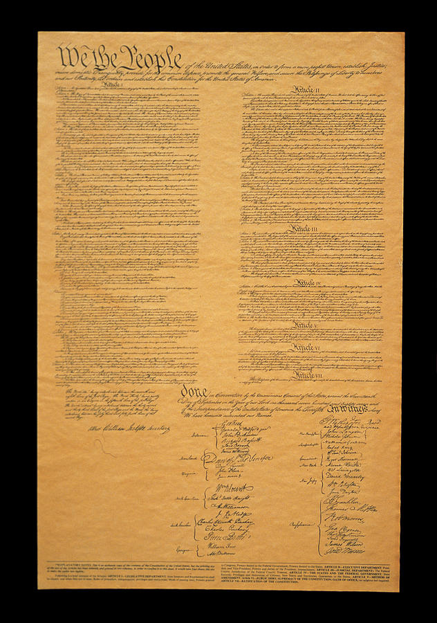 Color Image Photograph - The Original United States Constitution by Panoramic Images