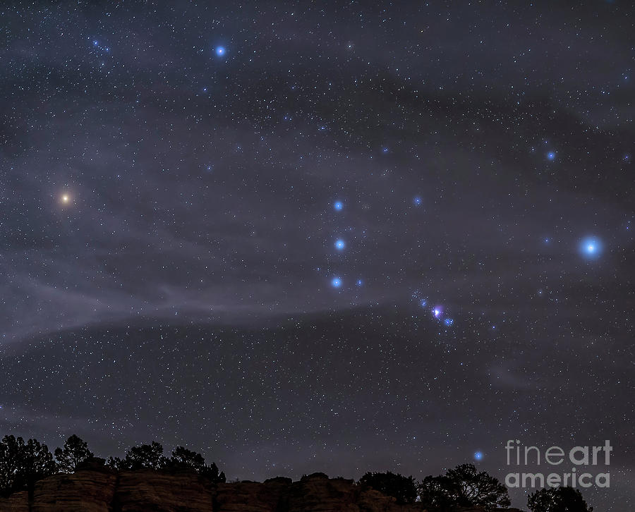 Astronomy Photograph - The Orion Constellation Rises by John Davis