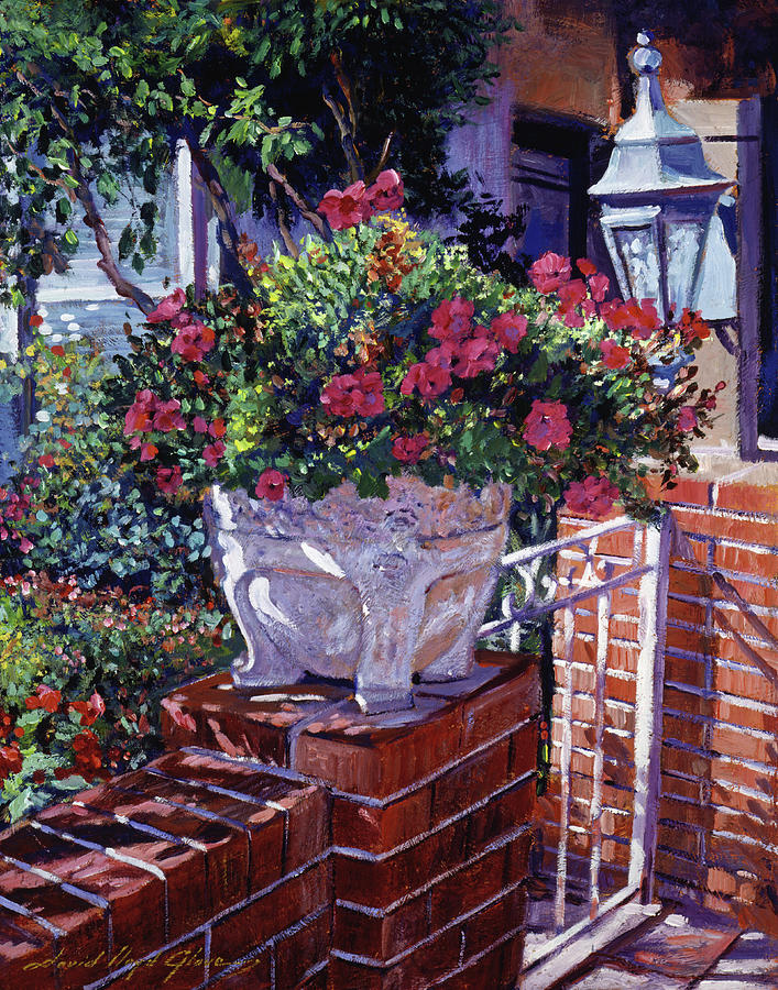 Flowers Painting - The Ornamental Floral Gate by David Lloyd Glover