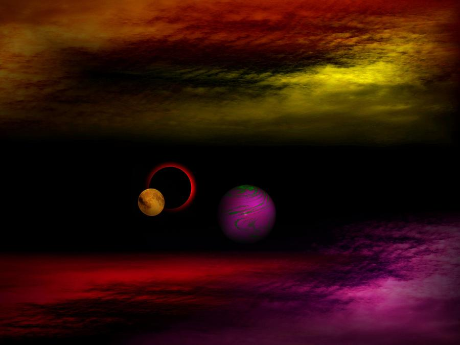 Space Fantasy Digital Art - The Other Galaxy by Juana Maria Garcia-Domenech