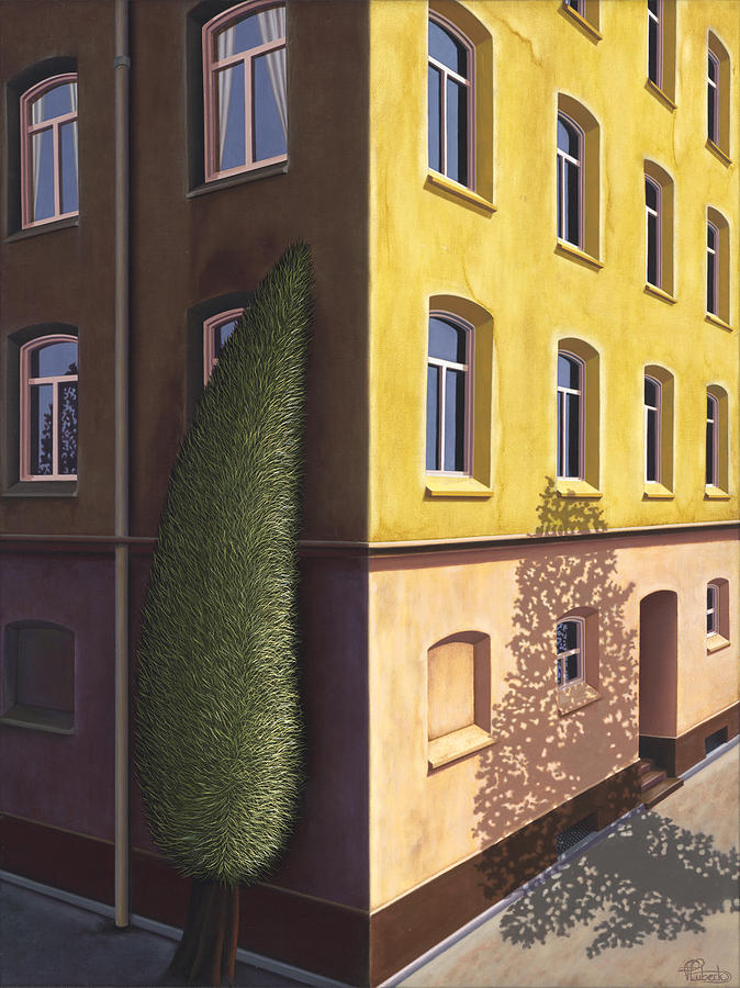 Architecture Painting - The Other One by Patricia Van Lubeck