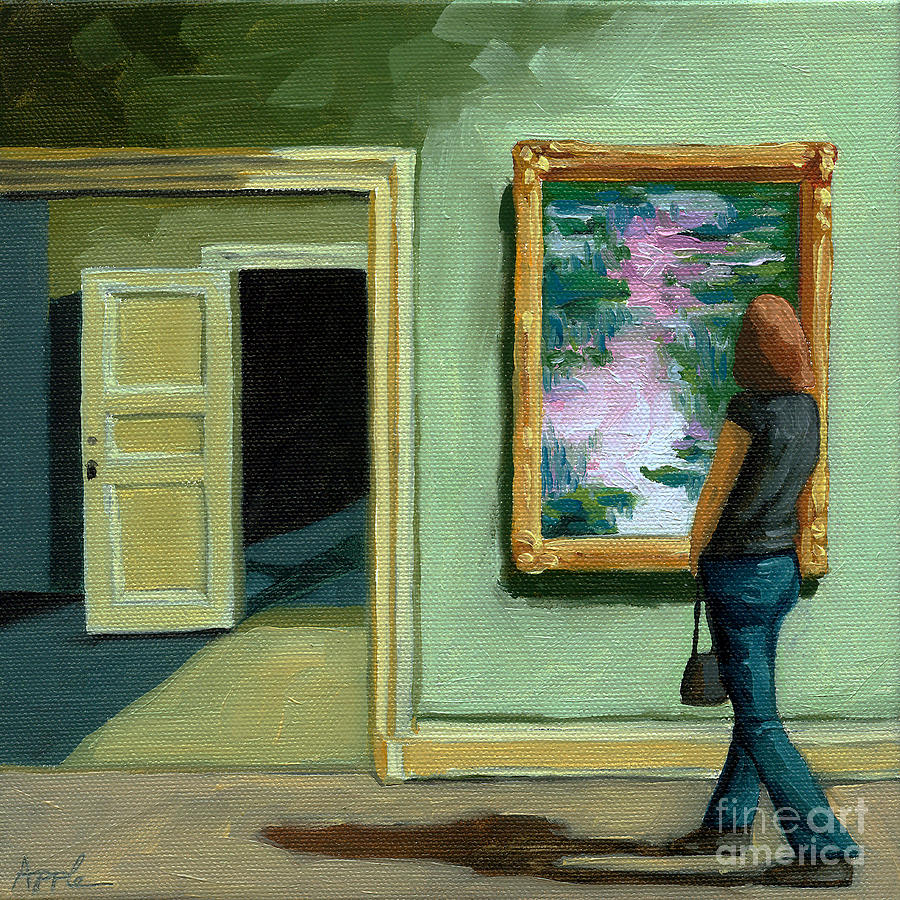 Art Museum Painting - The Other Room by Linda Apple
